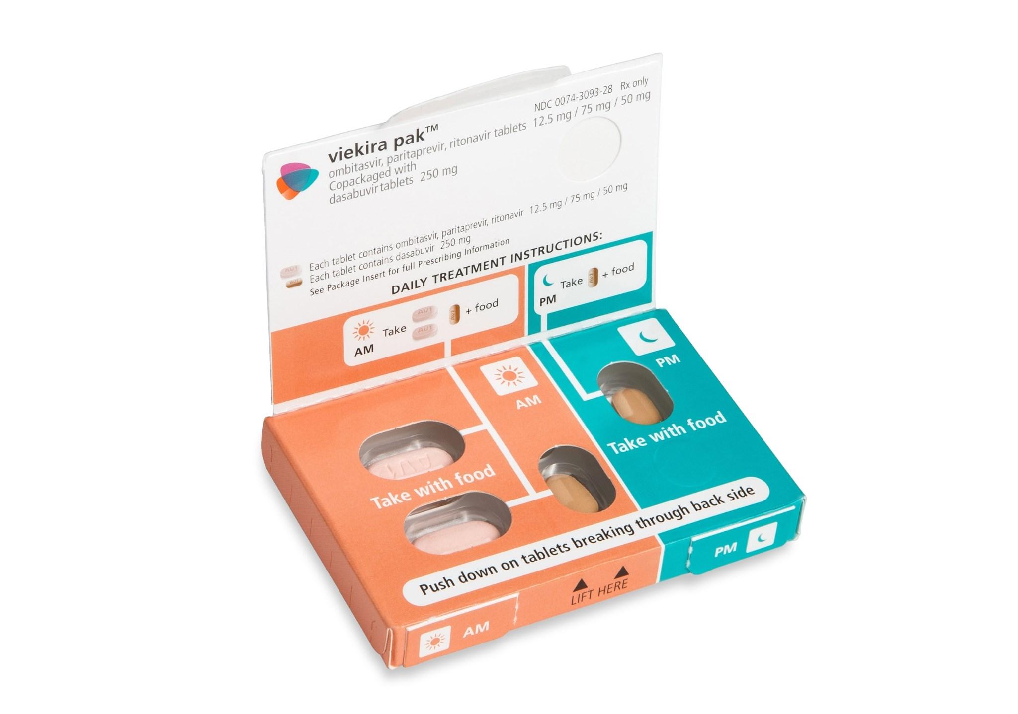 Viekira Pak daily dose pack