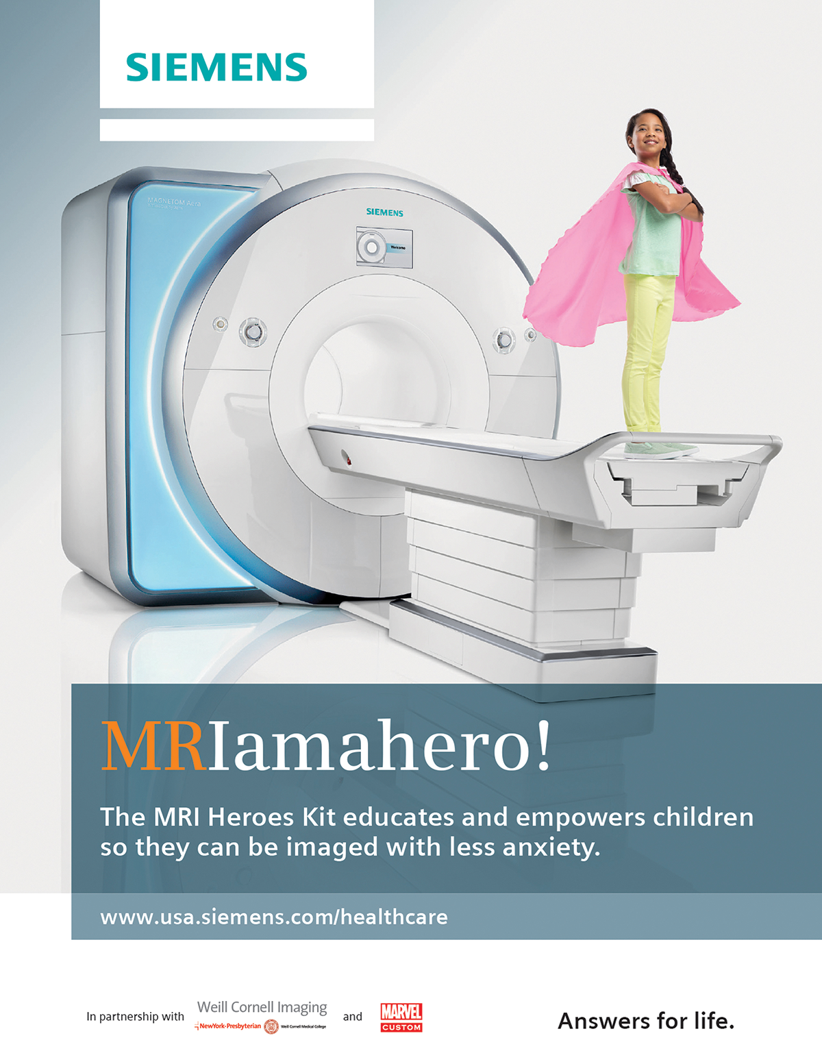 Calcium made MRI scans fun for kids and Siemens