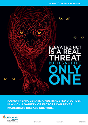 A Polycythemia vera disease-awareness ad from Flashpoint Medica on behalf of Novartis Oncology