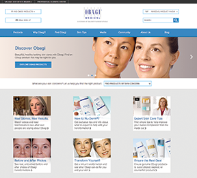 GA Communication Group's responsive website for Obagi Medical Products