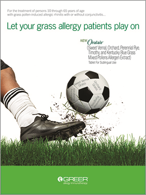 GHG Summit's ad work for Greer Allergy Immunotherapy