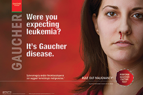 An example of the specialty work that H4B Boston did in 2014 is this ad for Gaucher disease, for Genzyme