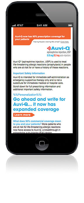 Auvi-Q epinephrine injection app for HCPs