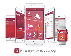 Procrits Health View apps include a design for the Apple Watch