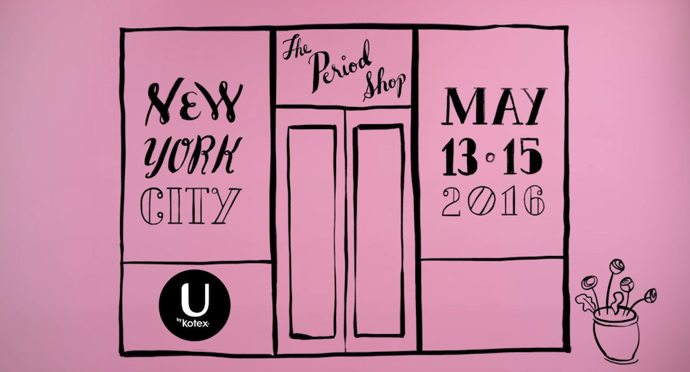 U by Kotex opens up a period-themed pop-up shop