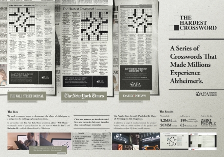 Best Consumer Print Campaign Silver Area 23 and Alzheimer Foundation of America