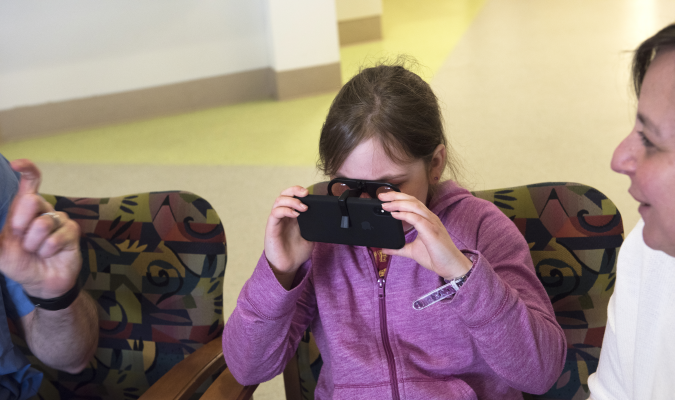 First understanding, next adherence? Using VR to help kids visualize medical findings