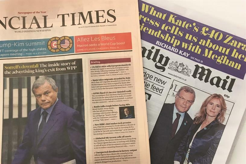 Sorrell in the headlines over 'sex, cash, and bullying' claims
